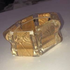 BEBE gold embellished bracelet